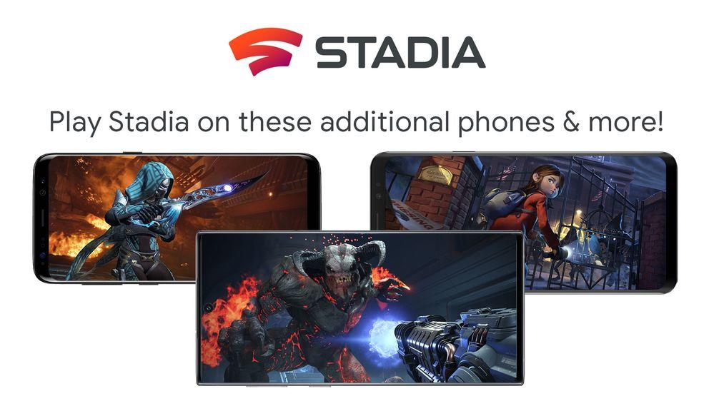 Google Stadia: da domani su ROG Phone, Galaxy e Razer