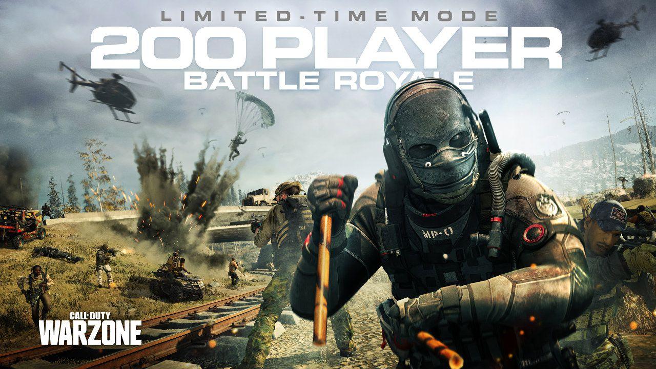 Call of Duty: Warzone arriva la modalità 200 giocatori